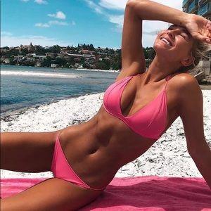 Other - 🆕Mallory Neon Pink Cheekie Bikini Bottoms